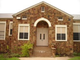 LImestone School Front Entry