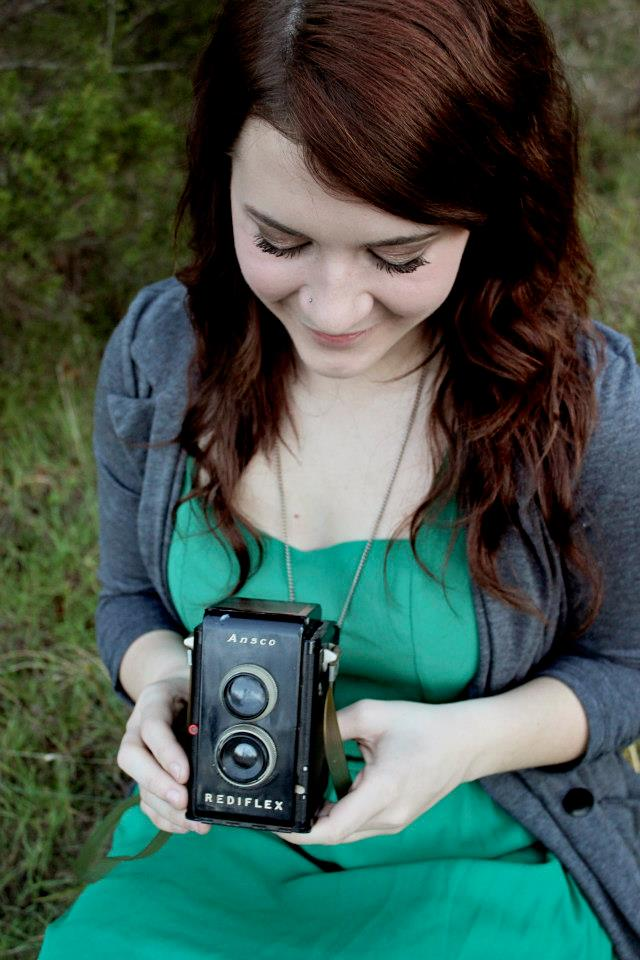 Ashley Grace with Brownie Camera