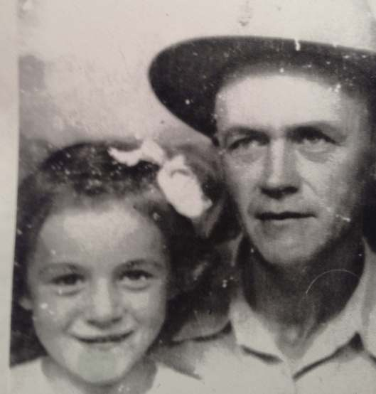 Becky with grandpa