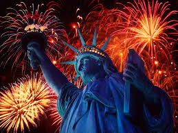 Fireworks Statue of Liberty