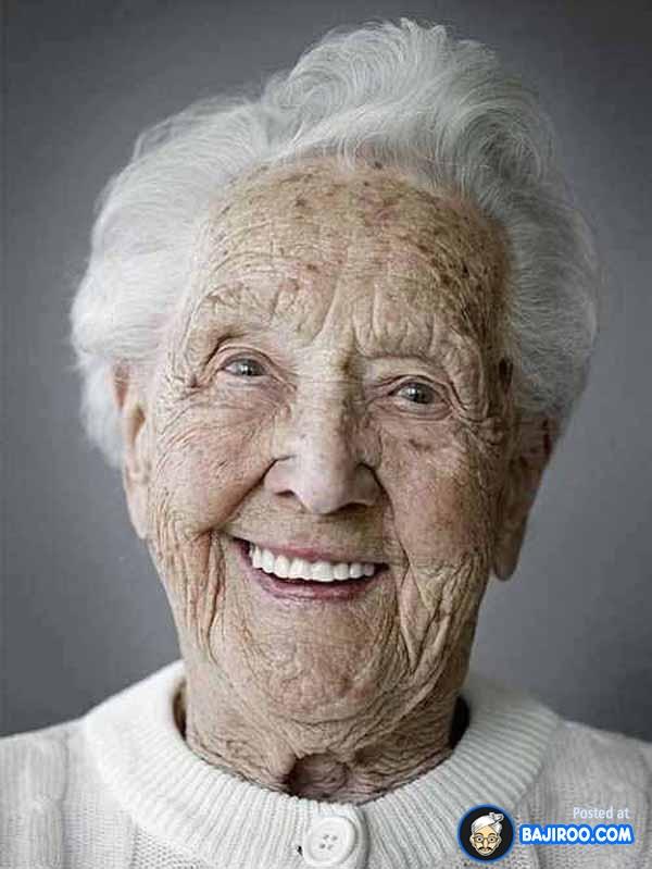smile older lady
