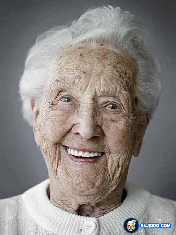 smile older lady
