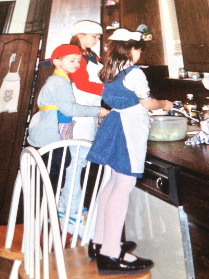 Family Washing Dishes