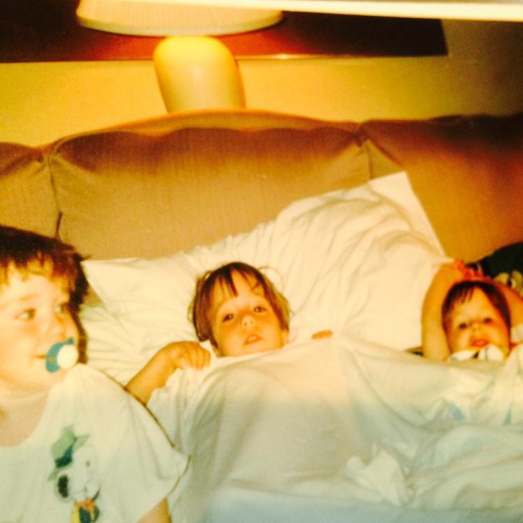 Family David Drew Brandon in Bed