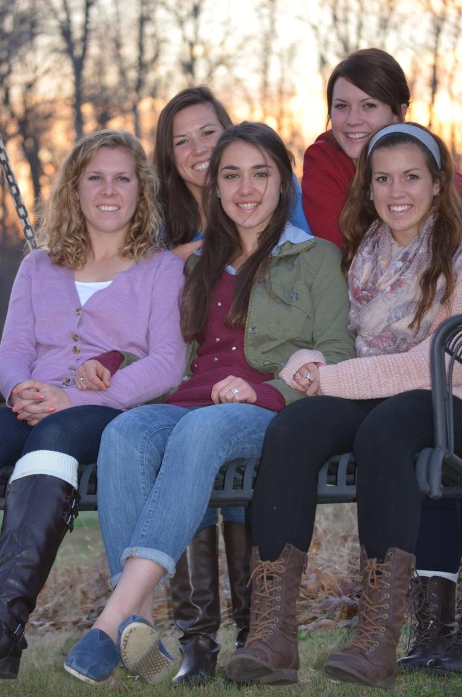 Thanksgiving 2013 five girls swing