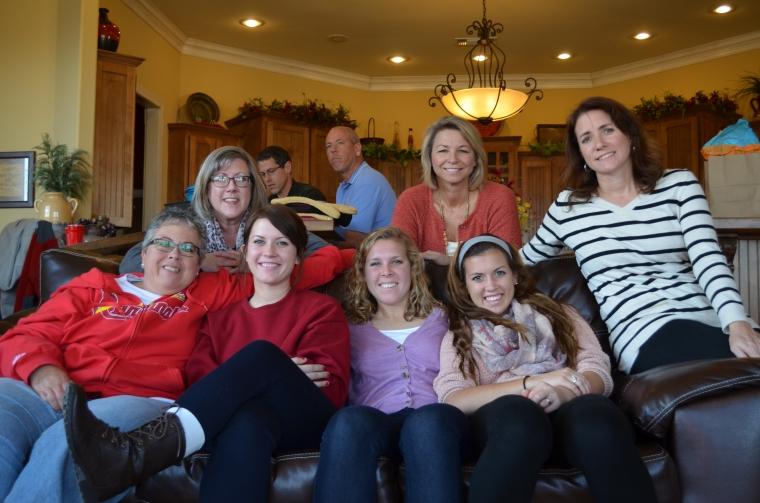 thanksgiving 2013 leather sofa aunts kids