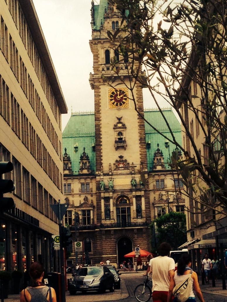 Hamburg near town square