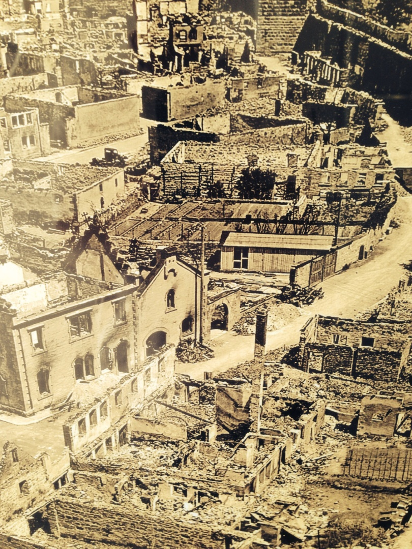 Bombing ruins Rothenberg old city