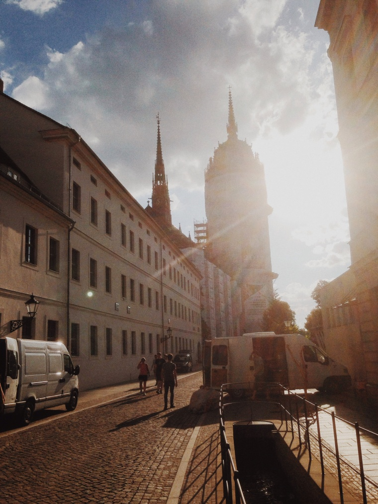 Wittenburg castle church today about 7:30 pm