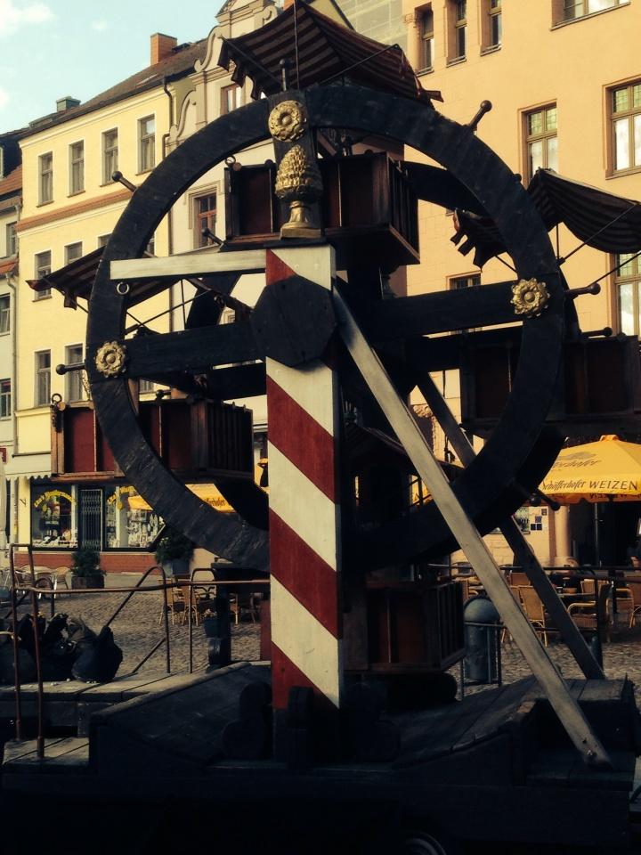 Medieval Ferris wheel in Wittenberg