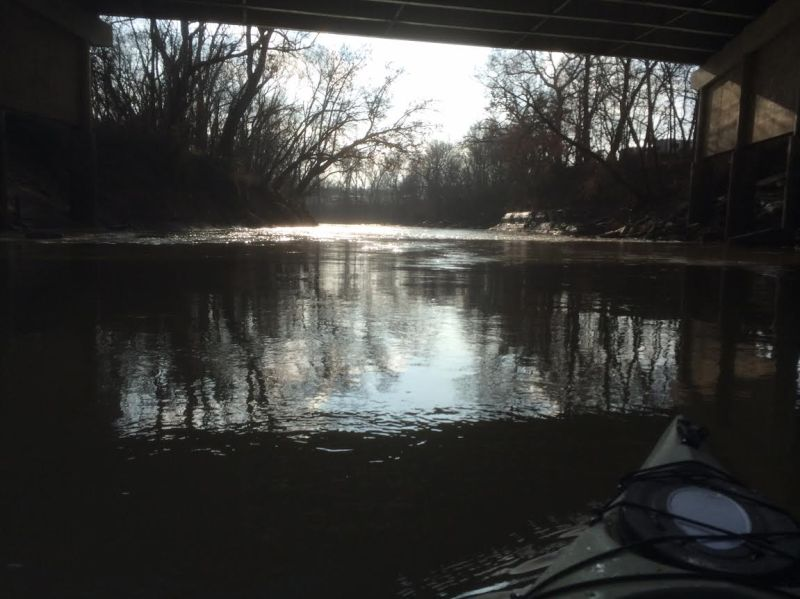 Caney River Under 7th Street Bridge