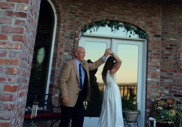 Lauren Wedding Dance in Garden with Dad