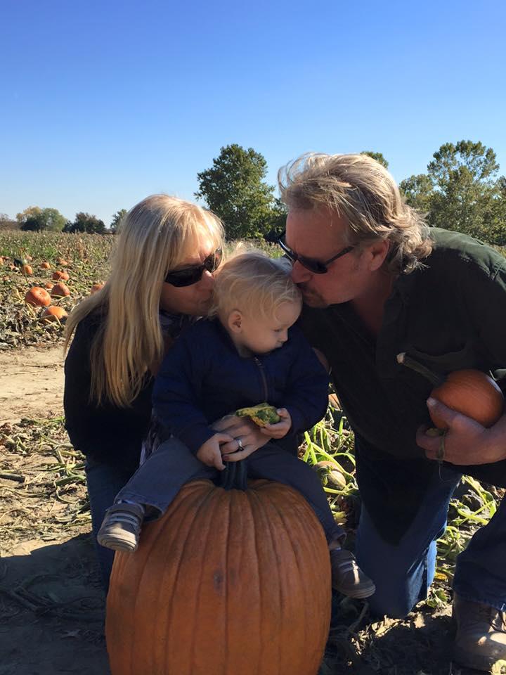 Tom Achey Pumpkin Patch Grandson